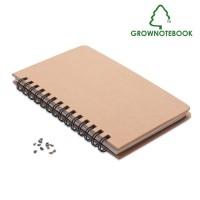 Σημειωματάριο με σπόρους πεύκου.