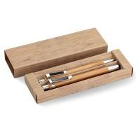 Σετ στυλό και μολύβι από μπαμπού.