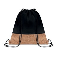 Τσάντα με κορδόνια και λεπτομέρειες από φελλό.