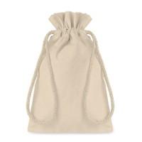 Μικρή βαμβακερή τσάντα με κορδόνι.