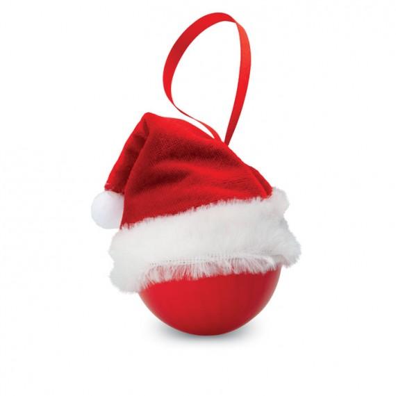Χριστουγεννιάτικη μπάλα με καπέλο του Αϊ Βασίλη