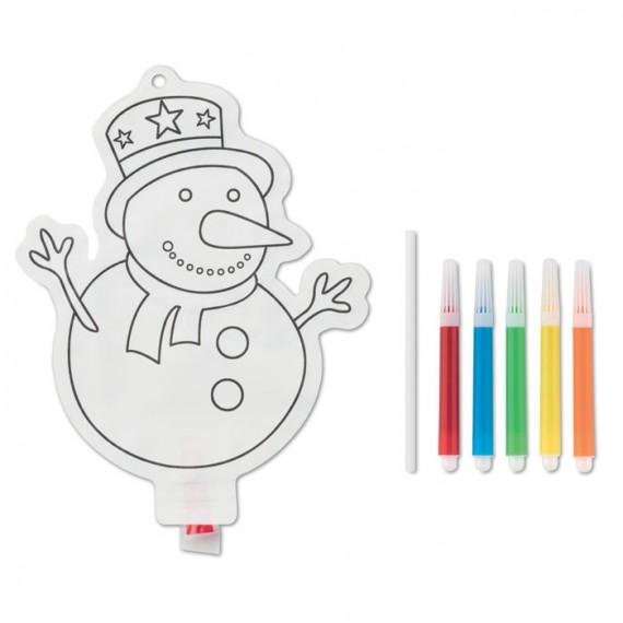 Χρωματιστό μπαλόνι χιονάνθρωπος.