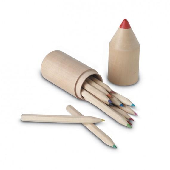 12 Μολύβια σε ξύλινο κουτί.
