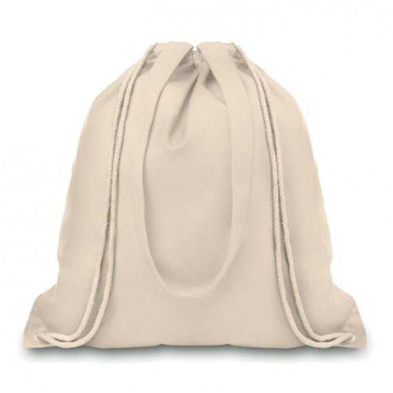 Τσάντα πλατής με κορδόνι.