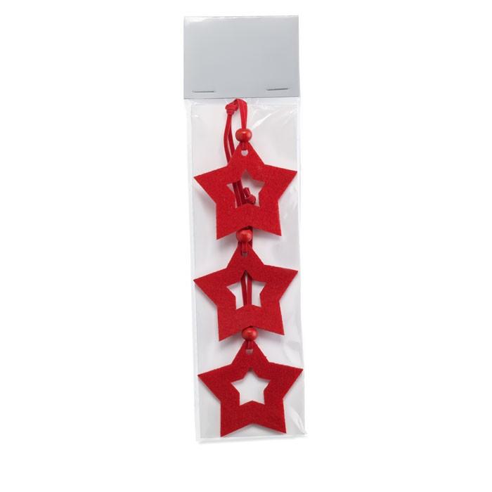 Στολίδια χριστουγεννιάτικου δέντρου σε σχήμα αστέρι.
