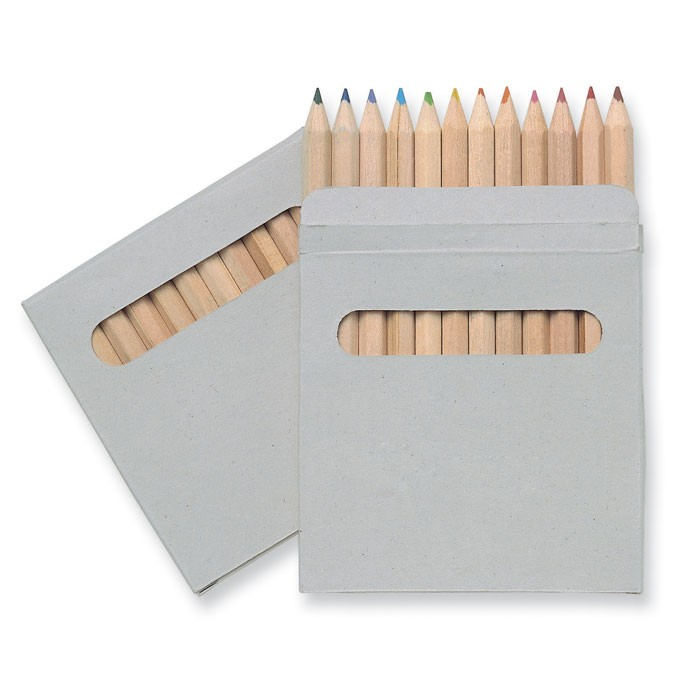 Σετ 12 χρωματιστών μολυβιών.
