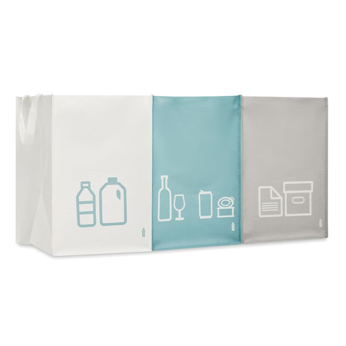 3 RPET nonwoven τσάντες σκουπιδιών.