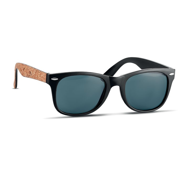 Sunglasses with cork arms