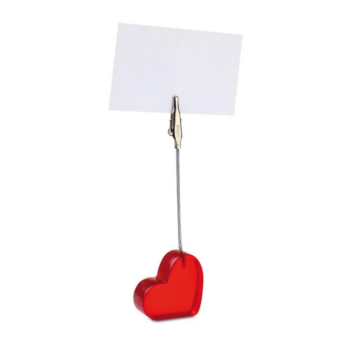 Κλιπ σημειώσεων σε σχήμα καρδιάς