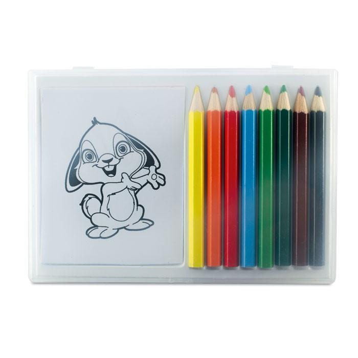 Σετ με ξύλινα χρωματιστά μολύβια.