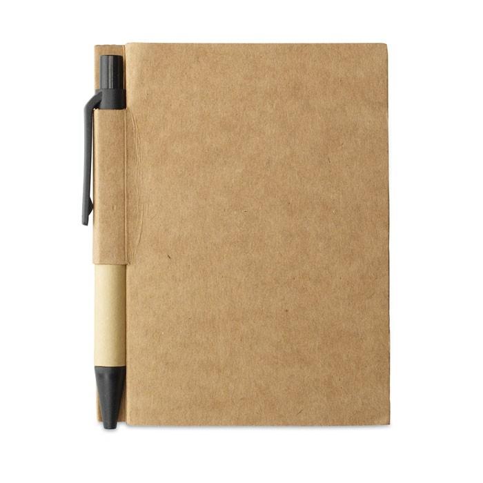 Σημειωματάριο με μίνι ανακυκλωμένο στυλό.