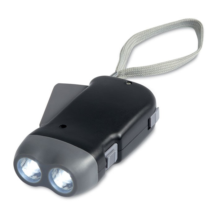 LED φακός με δυναμό.