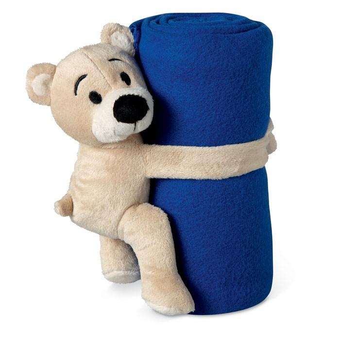 Κουβέρτα fleece με αρκουδάκι.