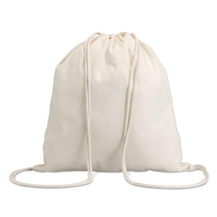 Βαμβακερή τσάντα πλάτης με κορδόνι.
