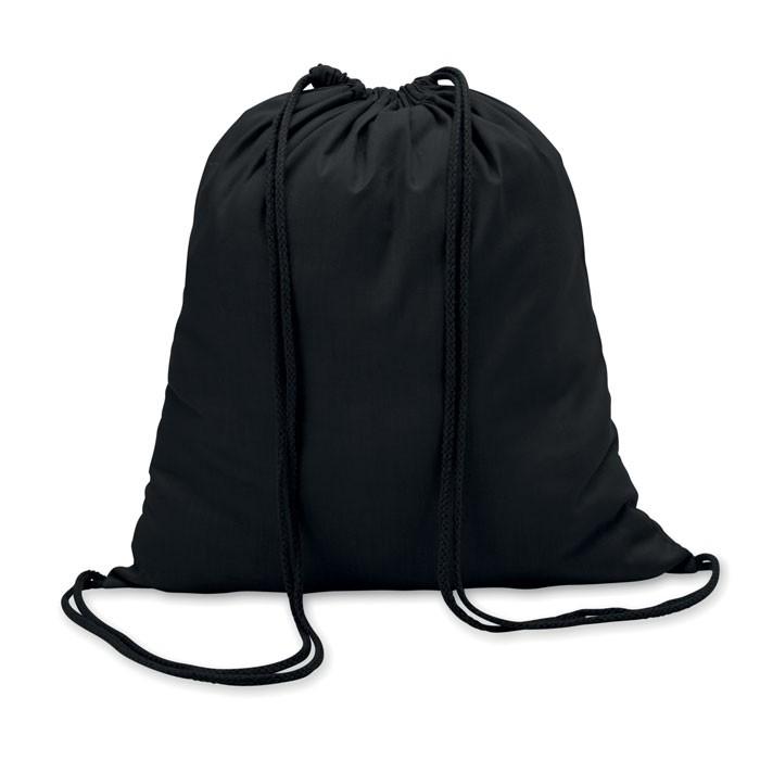 Βαμβακερή τσάντα πλατής με κορδόνι.