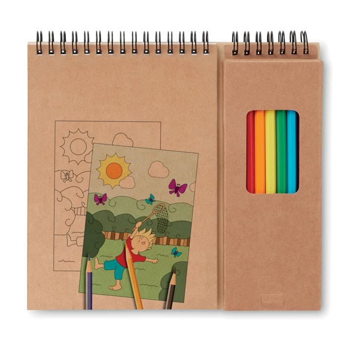 Σετ ζωγραφικής με σημειωματάριο.