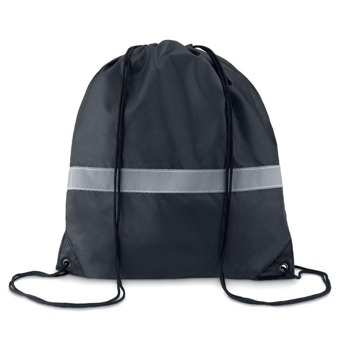 Τσάντα πλατής με κορδόνι και ανακλαστική λωρίδα.