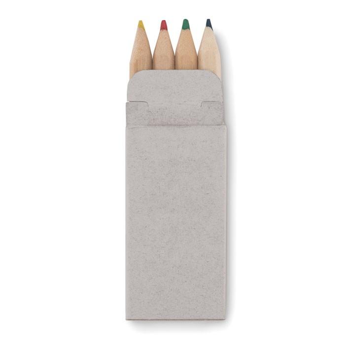 4 μικρά χρωματιστά μολύβια.