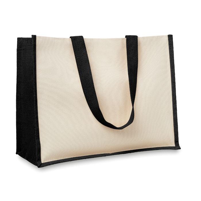 Τσάντα για ψώνια από γιούτα και καμβά.