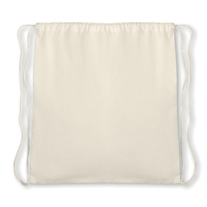Τσάντα πλατής με κορδόνι από βιολογικό βαμβάκι.