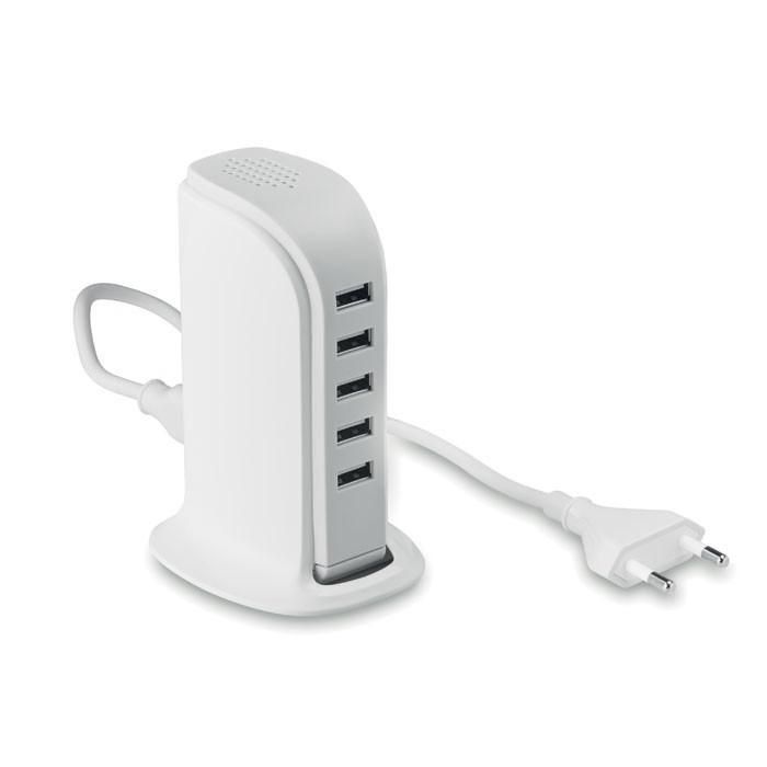 USB HUB με 5 θύρες και πρίζα AC.
