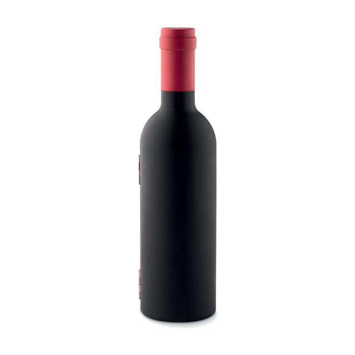 Σετ κρασιού σε σχήμα μπουκαλιού.