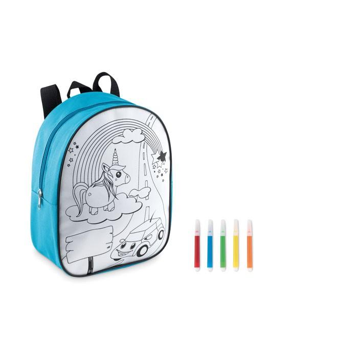 Backpack με 5 μαρκαδόρους.