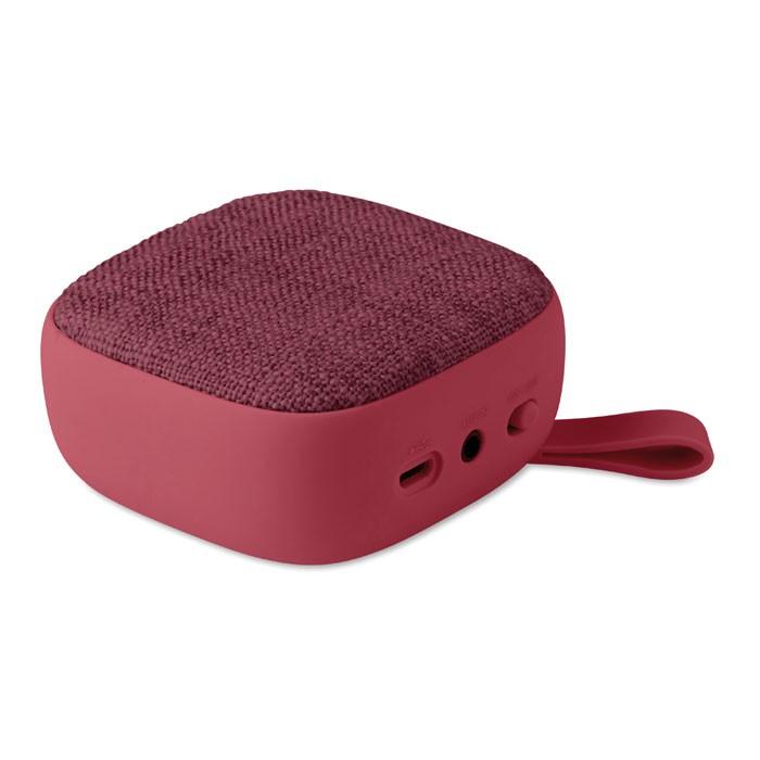 Τετράγωνο ηχείο Bluetooth, με ύφασμα.