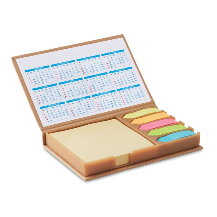 Επιτραπέζιο σημειωματάριο με ημερολόγιο.
