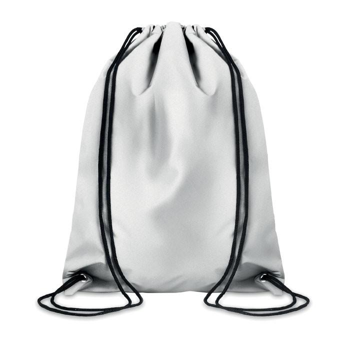 Ανακλαστική τσάντα πλάτης με κορδόνια.