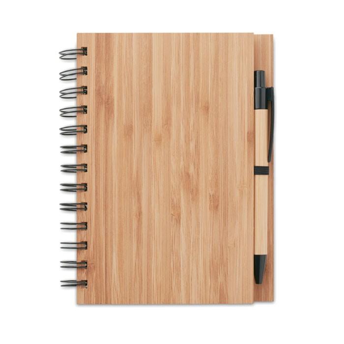 Σημειωματάριο με στυλό από μπαμπο.
