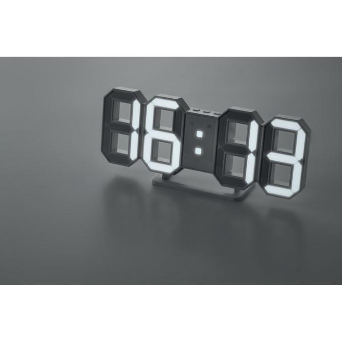 LED ρολόι με αντάπτορα AC.