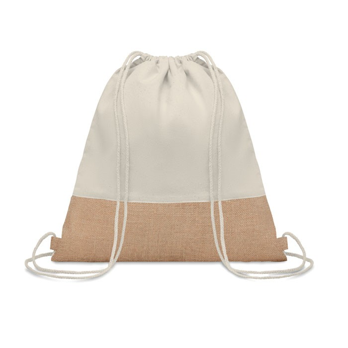 Τσάντα ώμου με κορδόνια.