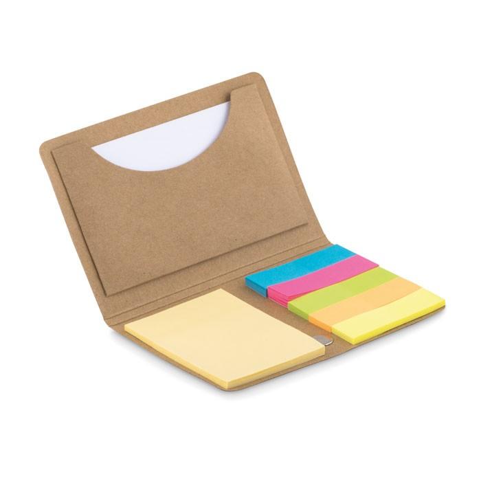 Θήκη για επαγγελματικές κάρτες με sticky notes.