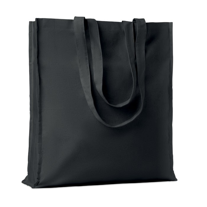Βαμβακερή τσάντα για ψώνια με μακριές λαβές.