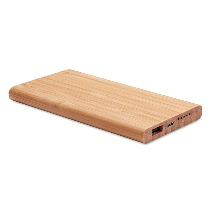 Wireless power bank in bamboo