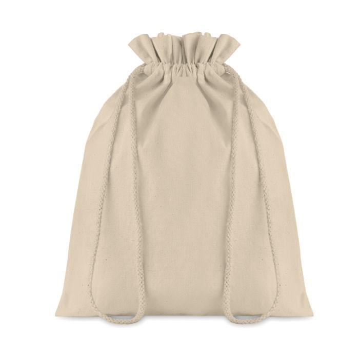 Μεσαία βαμβακερή τσάντα με κορδόνι.