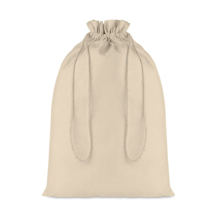 Large Cotton draw cord bag