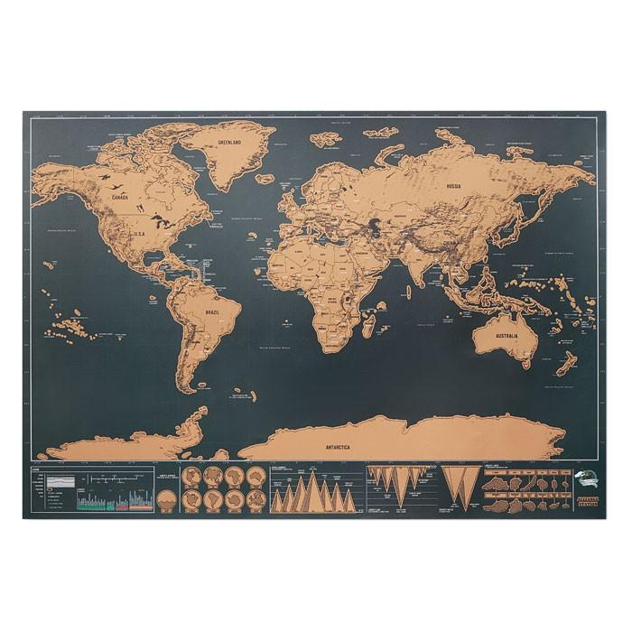 Ξυστός παγκόσμιος χάρτης 42x30εκ.