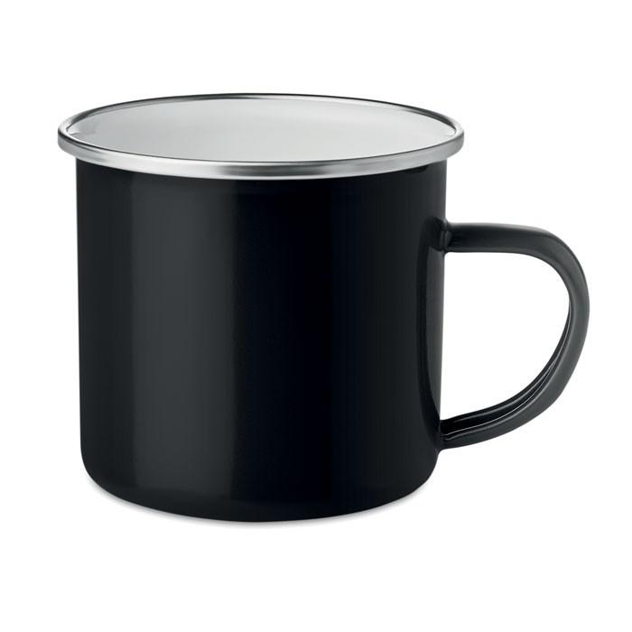 Μεταλλική κούπα με στρώση σμάλτου.