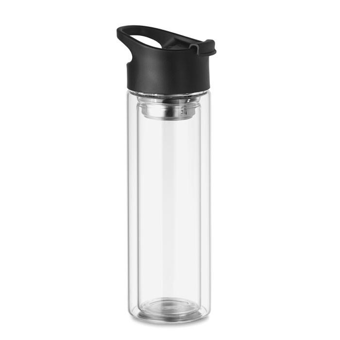 Γυάλινο μπουκάλι διπλού τοιχώματος 380ml.