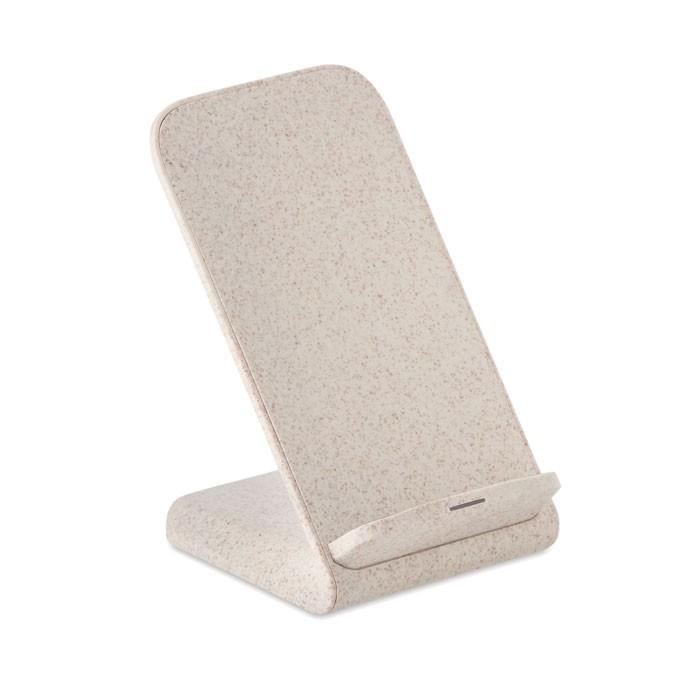 Βάση κινητού με ασύρματη φόρτιση από άχυρο σίτου/ABS.