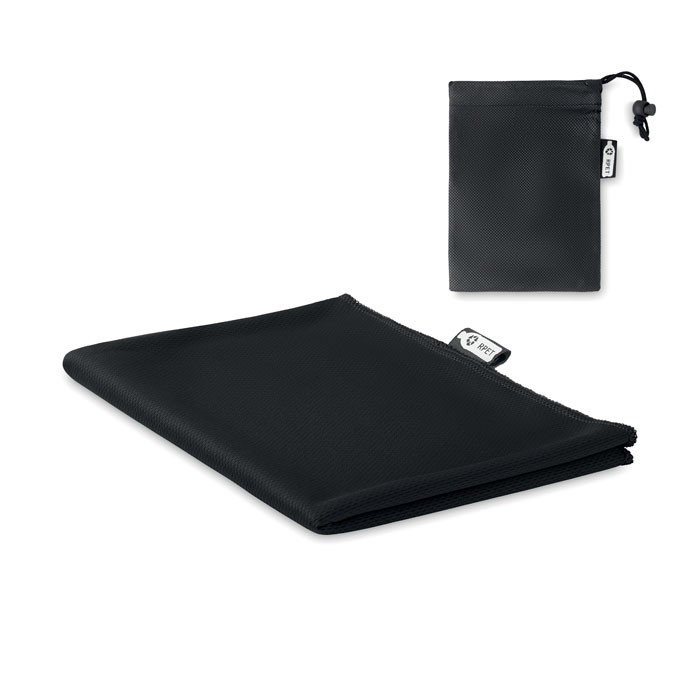 RPET sports towel and pouch