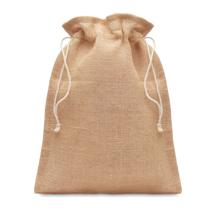 Μικρή τσάντα δώρου από γιούτα 14 x 22 εκ.