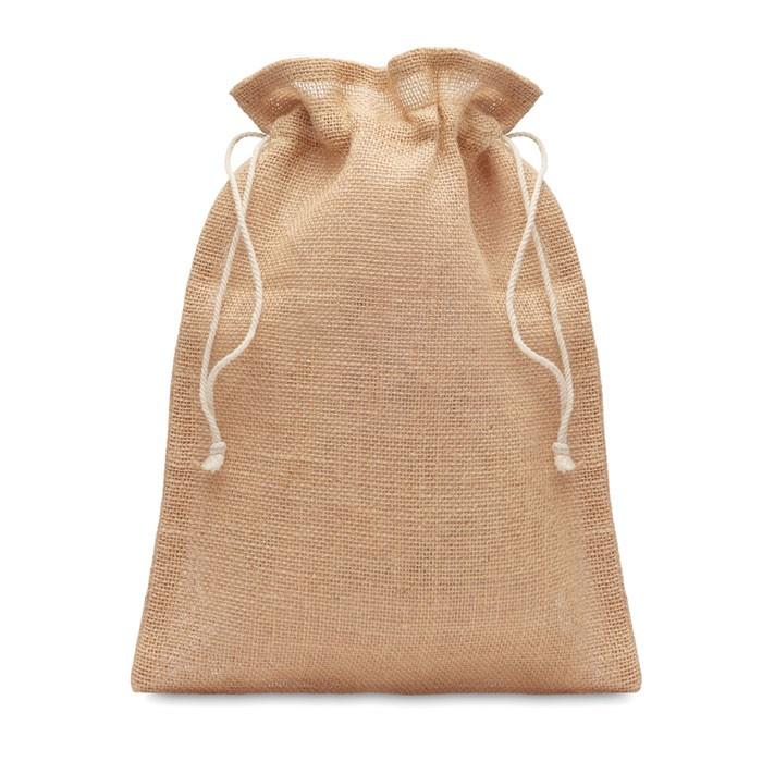 Μεσαία τσάντα δώρου από γιούτα  25 x 32εκ.