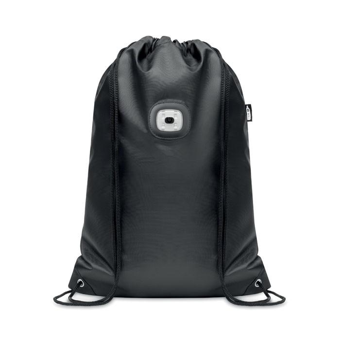 Τσάντα με κορδόνια από RPET με φως COB.