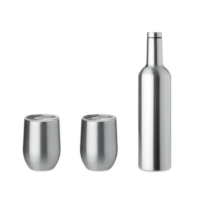 Σετ μπουκάλι και κούπες διπλού τοιχώματος.